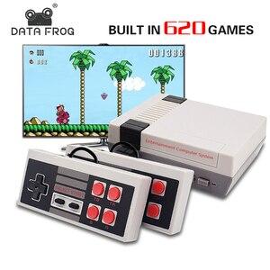 Image 2 - البيانات الضفدع التلفزيون لعبة فيديو وحدة التحكم المدمج في 620 ألعاب 8 بت الرجعية لعبة وحدة التحكم المحمولة الألعاب لاعب أفضل هدية شحن مجاني