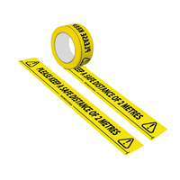 Self adhesive PVC Floor Warning Tape Reminder Social Distance Marker Isolation for Keeping Social Distance Decoration