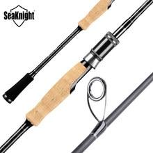 Seaknight marca falcon série vara de pesca 1.98m 2.1m 2.4 fiação haste de fundição 2 dicas m & ml m & mh 2 seções vara de pesca mf ação
