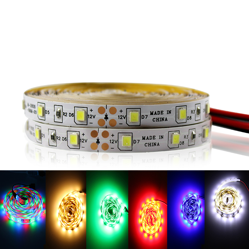 5m 10m LED Strip Light 12V Waterproof RGB Flexible Diode Tape Ribbon With Remote Control Red Blue Warm White Green