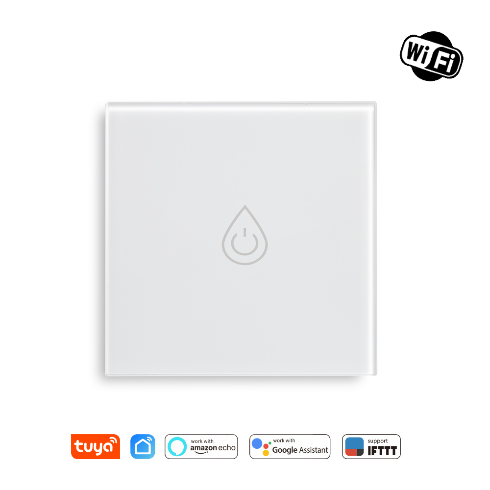 Tuya WiFi Smart Boiler Switch Water Heater Remote Control Amazon Alexa Echo Google Home Voice Control Glass Panel