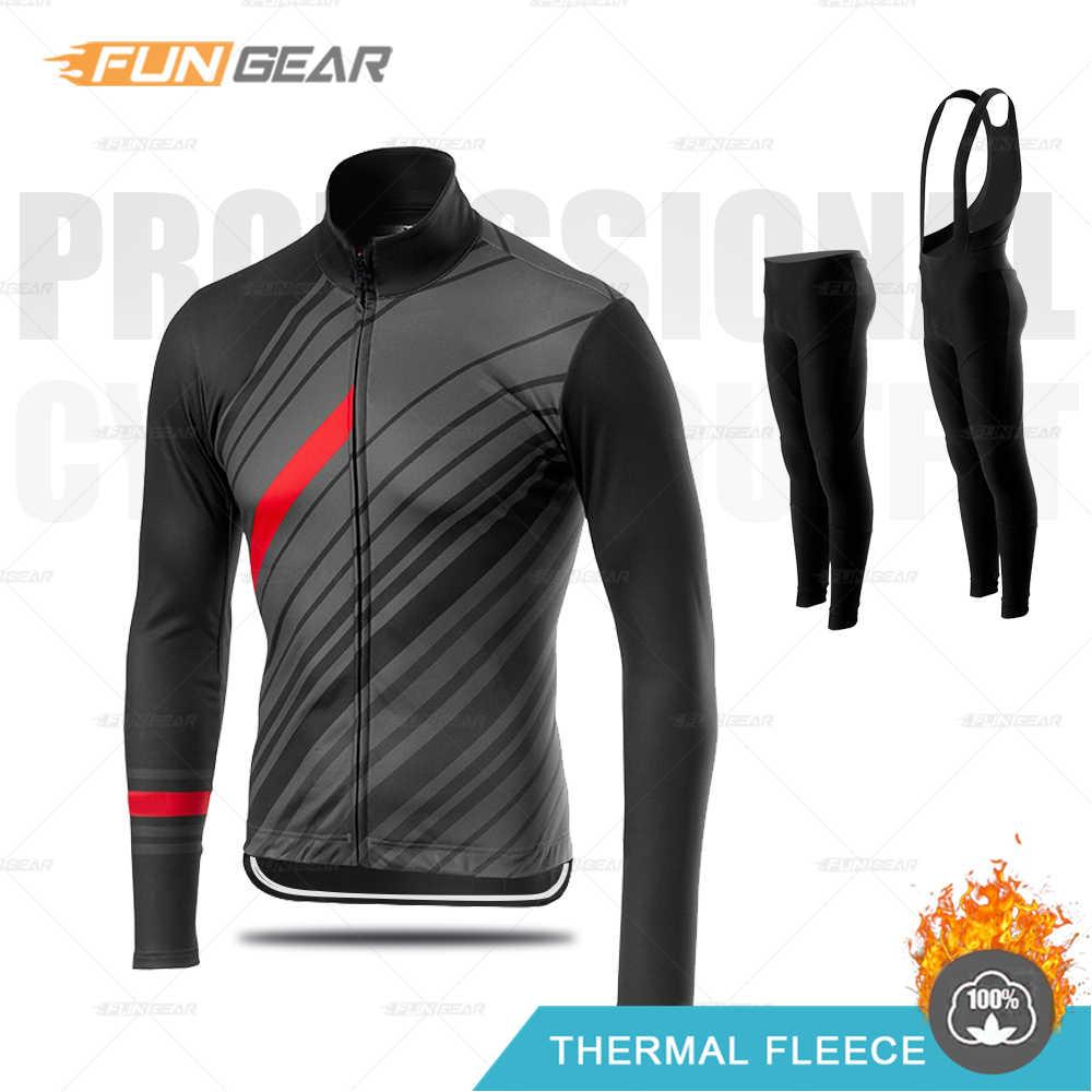 Conjunto de jersey de ciclismo de invierno para hombres Pantalones montaña Traje