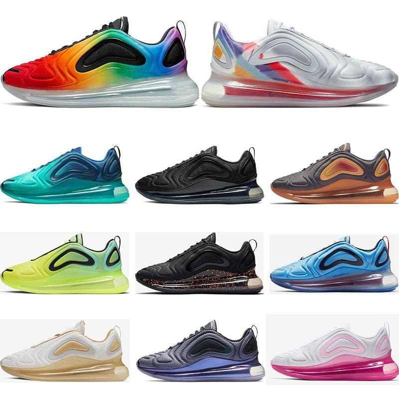 Compre Nike Air Max 720 Hombre Be True Pride Triple Blanco Negro VERDE CARBONO Voltios Deportivos Para Mujer Zapatillas Deportivas Tamaño Transpirable