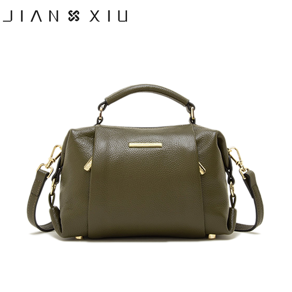 JIANXIU Brand Genuine Leather Handbag Luxury Handbags Women Bags Designer Shoulder Bag 2020 New Litchi Pattern Tote Bag 2 Colors