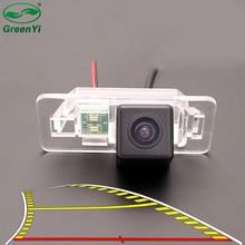 Linha trajetória dinâmica hd carro reverso backup câmera de visão traseira para bmw série 1 e82 série 3 e46 e90 e91 série 5 e39 e53 x3 x5