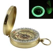Походный компас портативный карманный навигационный из латуни