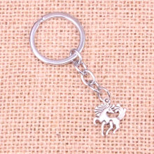 20pcs horse unicorn Keychain 19*25mm Pendants Car Key Chain Ring Holder Keyring Souvenir Jewelry Gift(China)