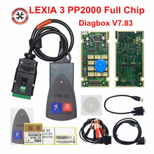 Completo chip lexia 3 pp2000 921815c diagbox v7.83 lexia3 obd obd2 scanner ferramenta de diagnóstico do carro para psa para citroen/peugeo-t