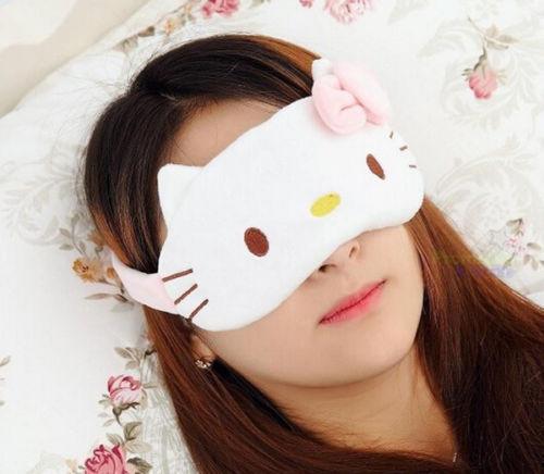 Cute For Hello Kitty Women Soft Sleep Aid Mask Eye Shade Blindfold Cover
