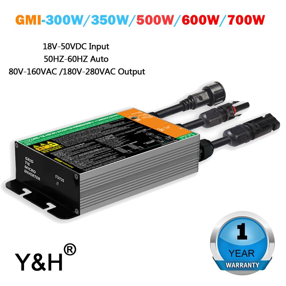 GMI серии 300W 350W 500W 600W 700W MPPT регулятором солнечного сетки галстук инвертора микро-инвертор DC18V-50V для AC110V-230V 50 Гц/60 Гц Солнечный инвертор