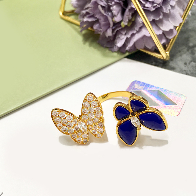 Bague femme chaude bijoux belle papillon mode personnalité visage lisse pour envoyer des cadeaux pour les amoureux 2019 nouveau - 3