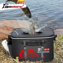Handle Folding Fishing Bucket EVA Fishbox Outdoor Water Box Packing Live Fish Bucket Thickened Fishi
