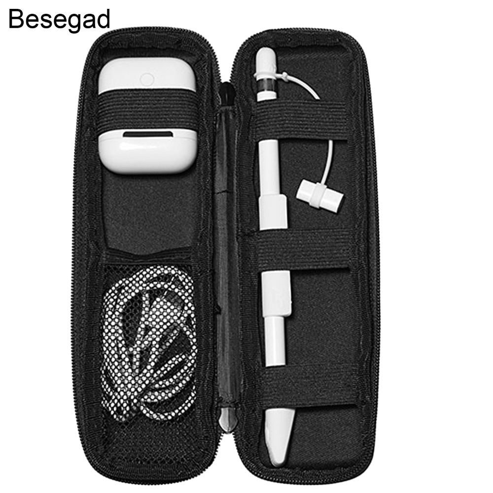Besegad Protective Storage Case Pouch Skin Cover Sleeve For IPad Pro 9.7 10. 5 Ipencil Apple Pencil Airpods Accessories Gadgets