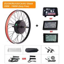 Jogo bonde da conversão da bicicleta do motor 48v gearless do motor 36v 250/350/500w 1000w 1500w da roda traseira do jogo de ebike 135-142mm