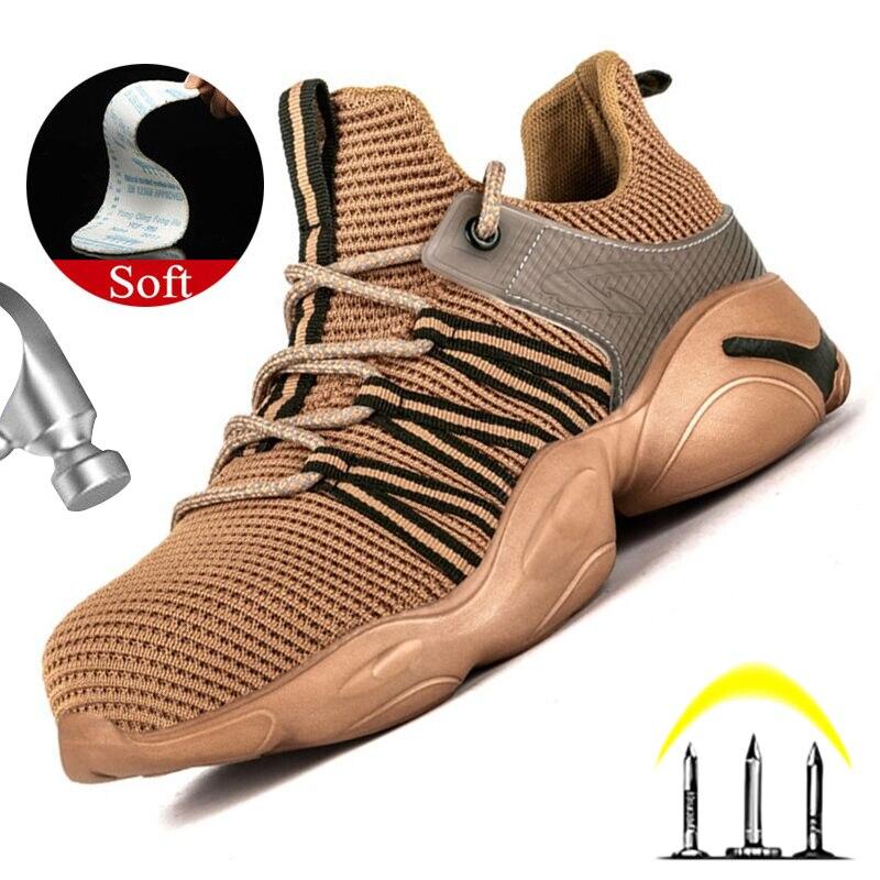 Легкие рабочие ботинки со стальным носком, защитные ботинки, дышащая защитная обувь, непробиваемые рабочие кроссовки, неразрушаемые ботинки 36 48|Защитная обувь|   | АлиЭкспресс
