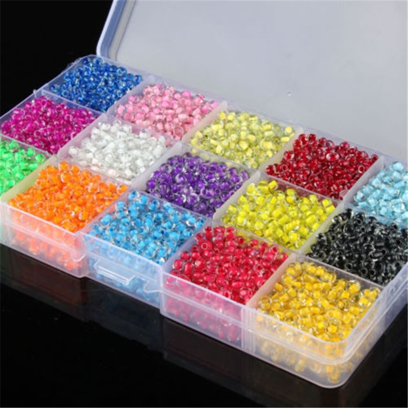 Glass-Beads Crystal Jewelry Making Czech Colored-Core DIY Casted 4mm for 4mmx3.2mm 500pcs title=