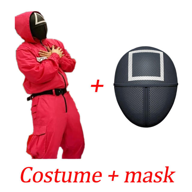 SET SQUID GAME COSTUME + MASK (3 VARIAN)