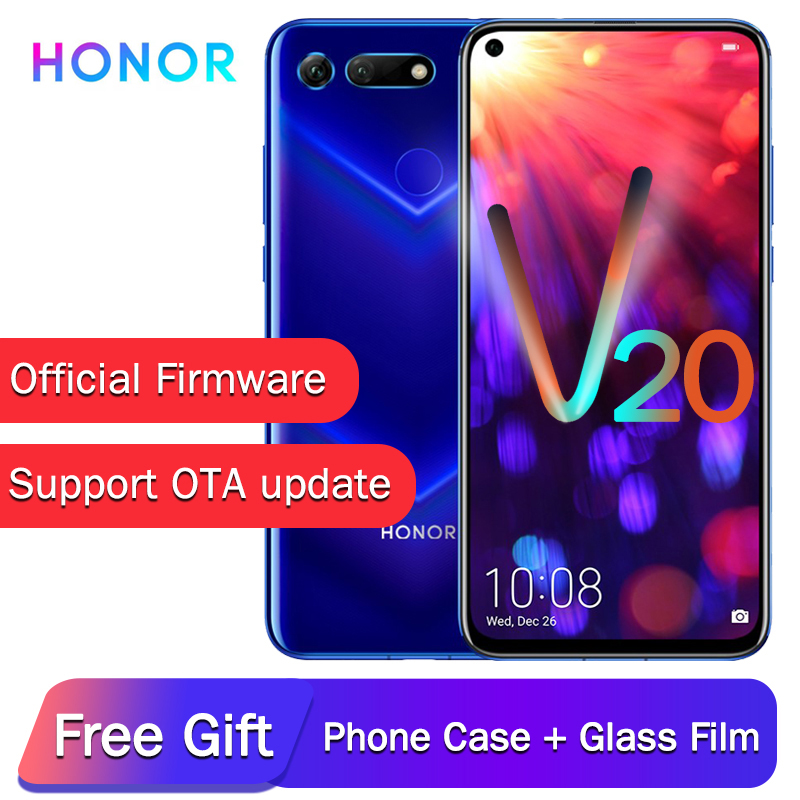 Original Honor View 20 NFC Mobile Phone Honor V20 Liquid Cooling Kirin 980 Android 9.0 6.4 Inch Screen 4000mAh Smartphone