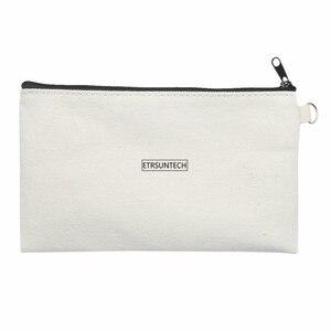 Image 4 - 10 sztuk puste płótno Zipper piórniki Pen woreczki bawełniane torby kosmetyczne torebki na makijaż telefon komórkowy kopertówka z organizerem