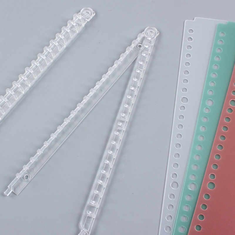 Warna Transparan Daun Longgar Pengikat Cover 20/26 Lubang Dilepas Loose-Leaf Notebook Mengikat Aksesoris A5 B5 Alat Tulis Kantor