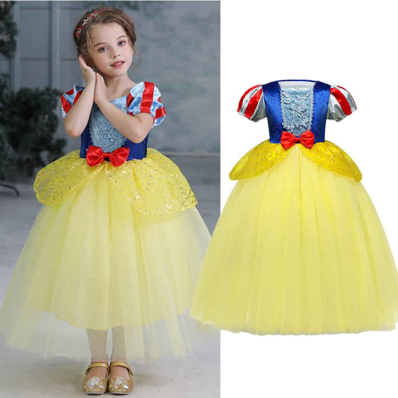 Girls Fancy Dresses Kids Cindrella Snow White Cosplay Costume Princess Rapunzel Aurora Belle Sleeping Beauty Sofia Party Dress