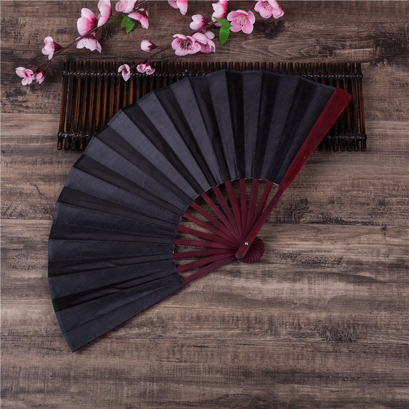 DIY Chinese Japanese Plain Color Bamboo Large Rave Folding Hand Fan Event Home Party Supplies For Men/Women Dropshipping