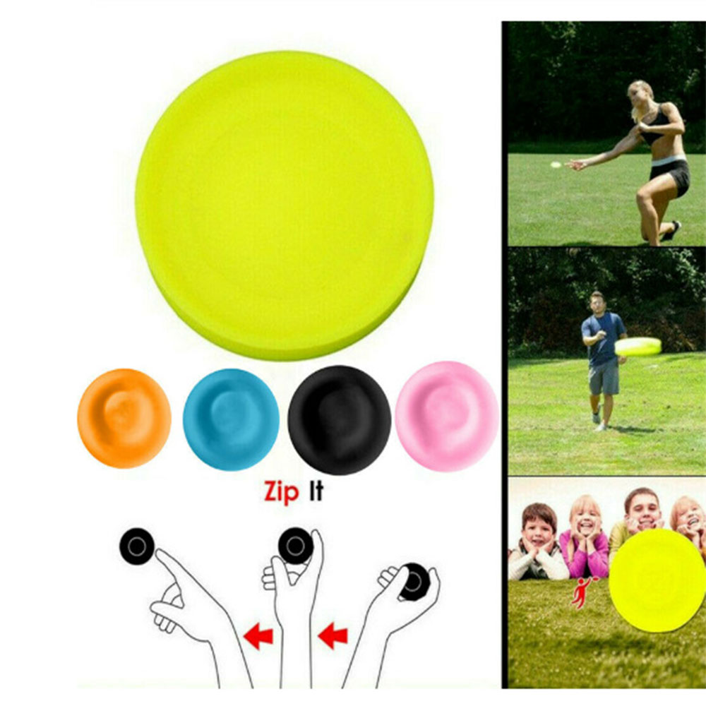 Outdoor Silicone Disc Sports Flying Throwing Disc Chip Frisbee Boomerang Outdoor Exercise Fitness Toy Equipment For Adult Kids