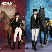 In Stock 1/6 MF004A/B Women Sexy Equestrian Clothing Female Business Suit Clothes & Horse & Accessory Model For 12 Action