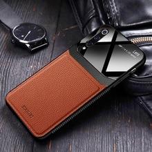 Чехол, для samsung Galaxy A50 A70 на кожаном зеркальном стекле Силиконовый противоударный телефон Роскошные милые чехлы