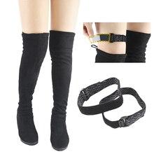 1 пара сапог; женская фиксирующая обувь с ремешком на поясе; нескользящая эластичная регулируемая подкладка; нескользящая клейкая лента; эластичный шнур