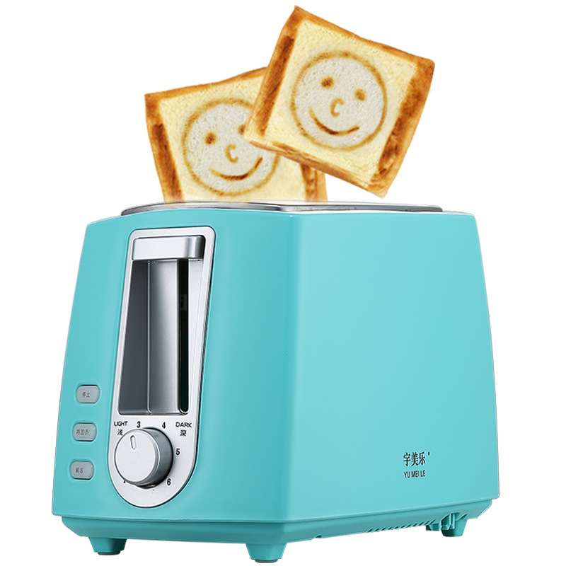 Stainless Steel Electric Toaster Household Automatic Bread Baking Maker Breakfast Machine Toast Sandwich Grill Oven 2 Slice