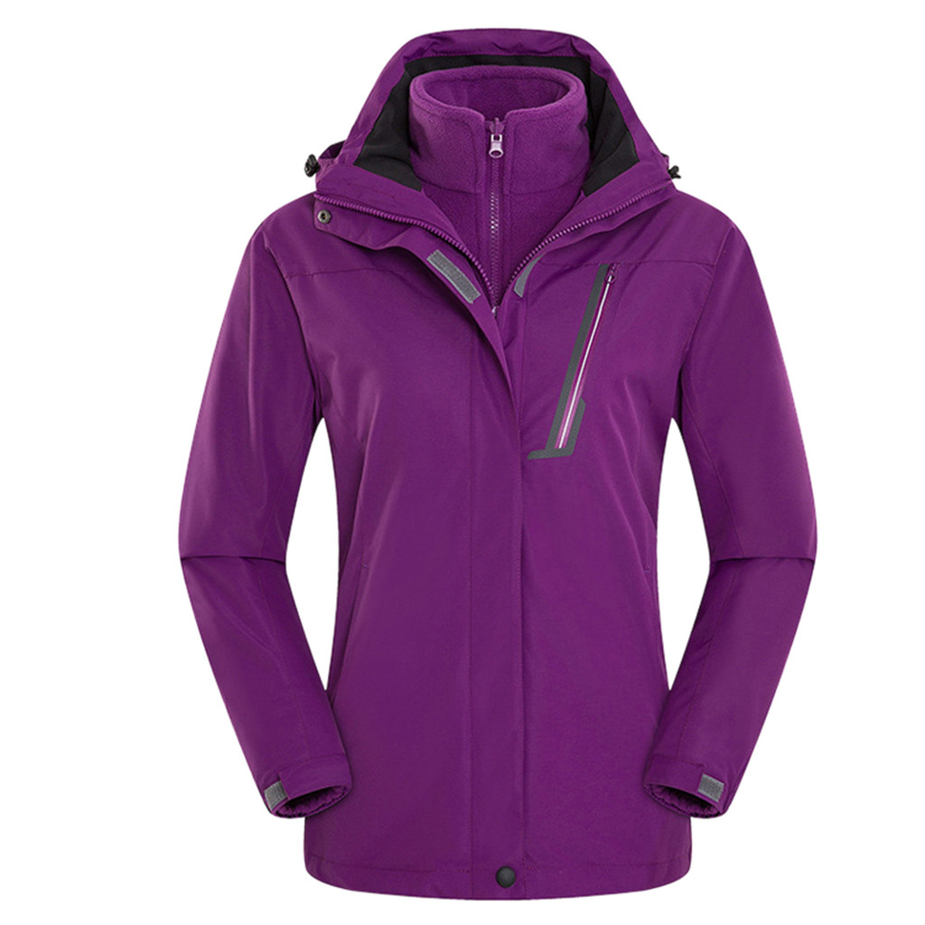 Couple Casual Autumn Winter Long Sleeve Hooded Zipper Fleece Outdoor Jackets Sun Protection Jackets Ultra Light Windbreaker - 2