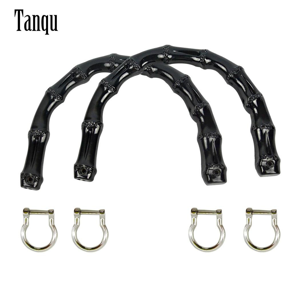 2019 Tanqu New 1 Pair Bamboo Shape Plastic Handles For Classic Mini O Bag Women Handbag For Obag Basket O Moon