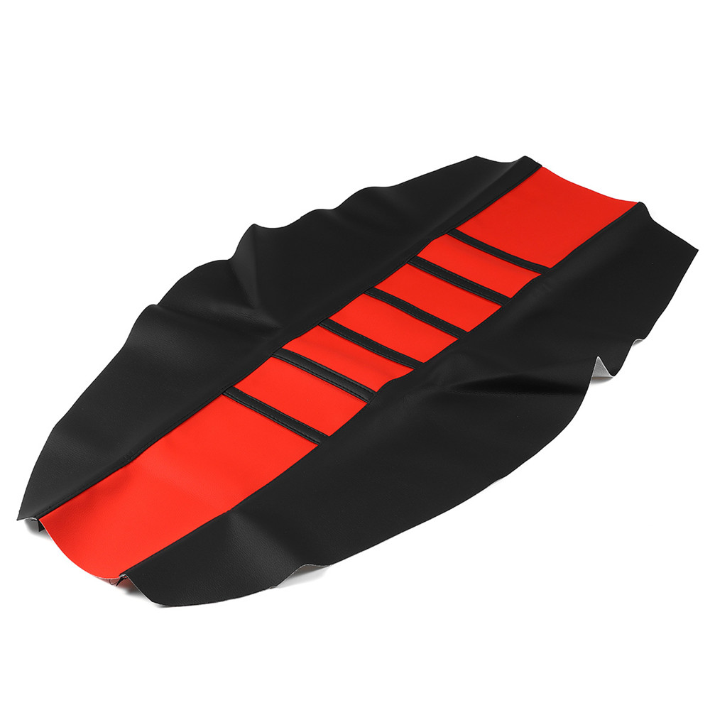 Motorcycles Seat Cover Dirt Bike Off-road Gripper Soft Leather Striped Design Leather + Vinyl Material Wear Resistant Dust-proof