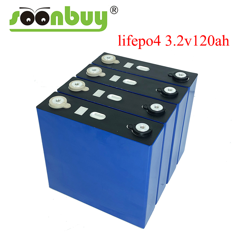4PCS 3.2V 120ah Lifepo4 Battery 12V 24V 36V 48V PACK Deep Cycle LFP Lithium Iron Phospha Lithium Cell EU US CA RU TAX Free