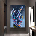 Graffiti Wall Art Lover Hands Oil Paintings on Canvas Street Art Posters Inspiration Artwork Canvas Pictures For Home Decoration