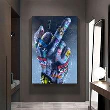 Ściana z Graffiti miłośnika sztuki ręce oleju obrazy na płótnie Street Art plakaty inspiracji dzieła sztuki obrazy na płótnie do dekoracji wnętrz