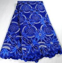 2020 kraliyet mavi yeni tasarım nijerya dantel kumaş, moda fransız afrika isviçre tipi pamuk vual dantel ile taşlar K HX21B