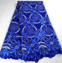 2020 الملكي الأزرق تصميم جديد نيجيريا أقمشة الدانتيل ، والأزياء الفرنسية الأفريقية دانتيل فوال من القطن السويسري في سويسرا بالحجارة K HX21B