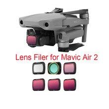 Filtre d'objectif pour Drone Mavic Air 2, MCUV CPL ND4 ND8 ND16 ND32 ND/PL, Kit d'accessoires pour appareil photo DJI Mavic Air 2