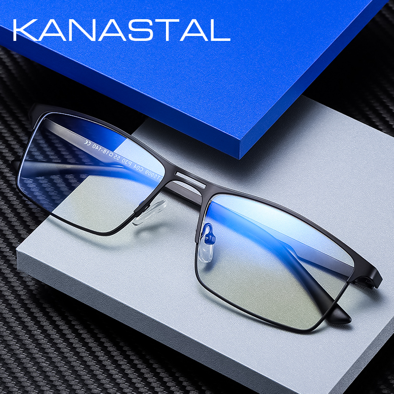 Anti Blue Light Computer Glasses Men  Women Spectacle Frame Gaming Eyewear For Men UV400 Radiation-Resistant Clear Glasses