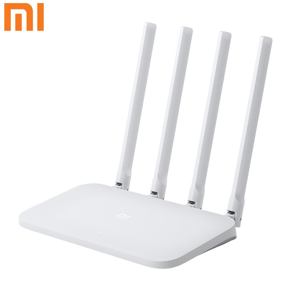 Original Xiao mi mi WIFI Router 4C 64 RAM Mbps 2,4G 802,11 <font><b>b</b></font>/g/n 4 Antennen band Wireless Router WiFi Repeater <font><b>APP</b></font> Control image