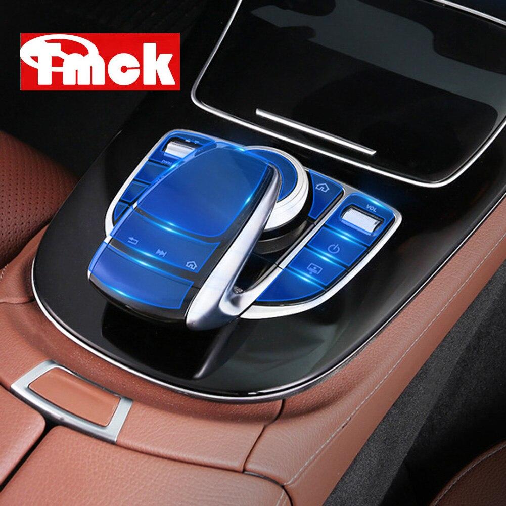Centro de controle do carro mídia botão mouse tela membrana protetor filme para mercedes benz classe e w213 c classe w205 glc classe x253