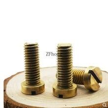 10-50PCS m1.2 m1.4 m1.6 M2 M2.5 M3 M4 M5 DIN84 Latão Com Fenda Cheese Head Screw Parafuso De Bronze Parafuso De Bronze