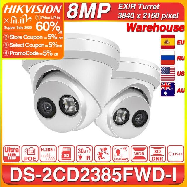 Hikvision Original IP Camera DS 2CD2385FWD I 8MP Network CCTV Camera H.265 CCTV Security POE WDR SD Card Slot Hikvision OEM