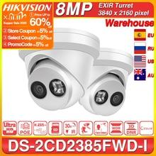 هيكفيجن كاميرا IP الأصلي DS 2CD2385FWD I 8MP شبكة CCTV كاميرا H.265 CCTV الأمن POE WDR فتحة بطاقة SD هيكفيجن OEM