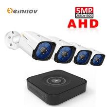 Einnov DVR Kit 4CH 5MP Telecamera di Sicurezza Esterna di Sorveglianza Video Della Macchina Fotografica Per CCTV Cavo LAN AHD NVR Set di Visione Notturna danale