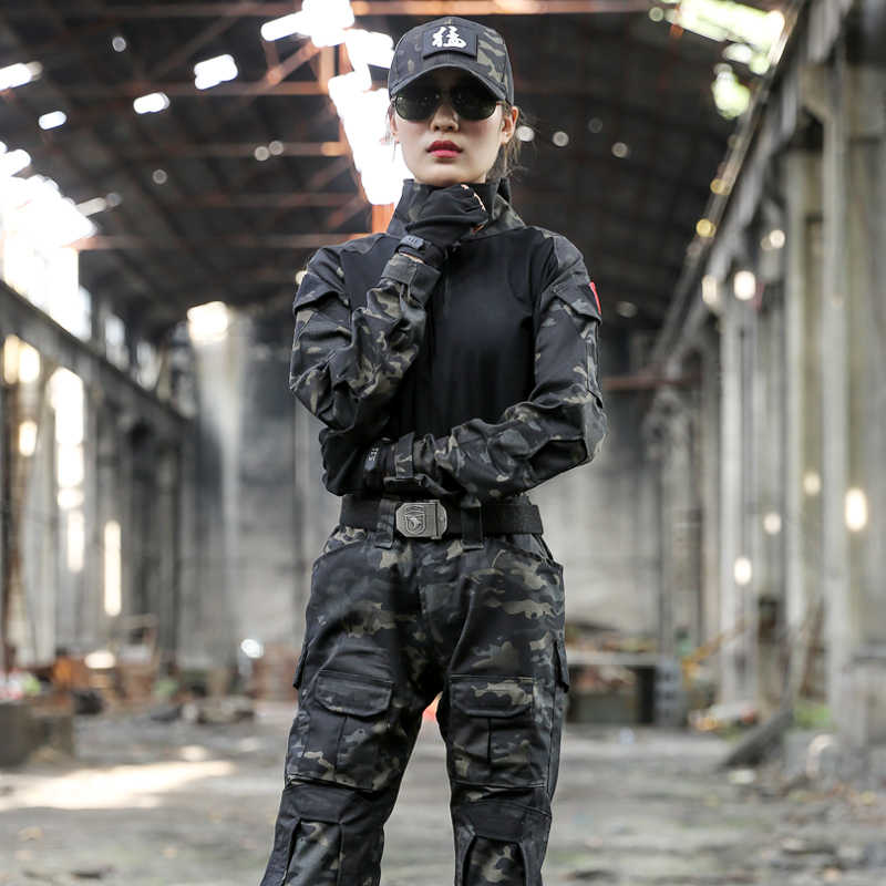 Militair Uniform Tactische Camouflage Kleding Pak Mannen ONS Leger Kleding Vrouwen Airsoft Militaire Combat Shirt Cargo Broek Kniebeschermers