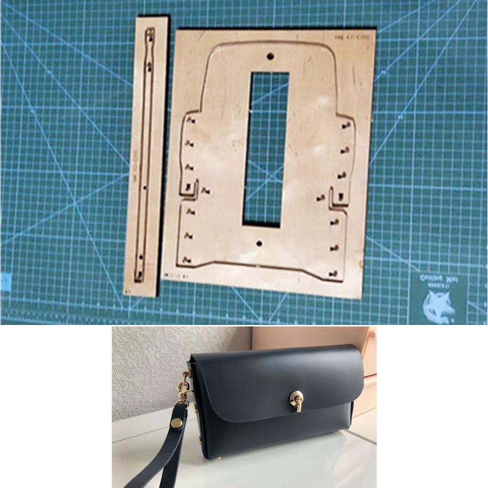 DIY Leather Craft No Sewing Cell Phone Bag Women Handbag Die Cutting Knife Mould Metal Hollow Puncher 19.5x11x3.5cm