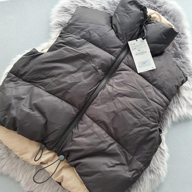 Autumn Winter New Women Vintage Black Jacket Coat Fashion Double Sided Warm Sleeveless Outerwear Female Casual Short Cotton Tops 4